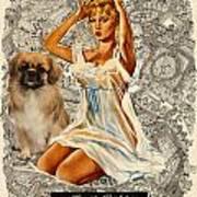 Tibetan Spaniel Art - Una Parisienne Poster