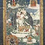 Tibetan Tanka With An Illustration Poster