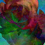 Tie Dye Rose Poster