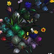 Tiffany Floral Design Poster