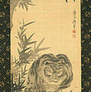 Tiger And Bamboo Poster