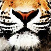 Tiger Art - Burning Bright Poster