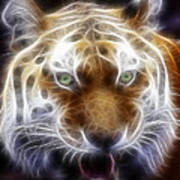 Tiger Greatness Digital Painting Poster