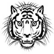 Tiger Head Poster