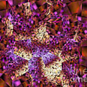 Tiger Lily Abstract Mixed Media Painting Poster