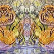 Tiger Spirits In The Garden Of The Buddha Poster