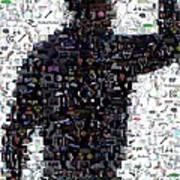 Tiger Woods Fist Pump Mosaic Poster