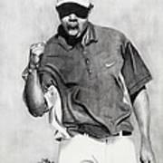 Tiger Woods Pumped Poster by Devin Millington