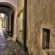 Tight Alley With Arch Poster