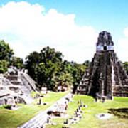 Tikal - Jaguar Temple And North Acropolis Poster