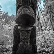 Tiki Man In Infrared Poster