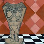 Tiki Statue Art Poster
