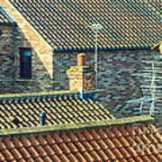 Tile Roofs - Thirsk England Poster