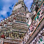 Tile Work On Wat Arun Bankok Poster