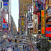 Time Square New York 20130503v7 Poster by Wingsdomain Art and Photography