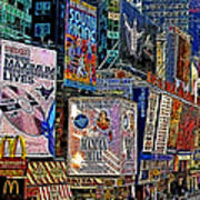 Time Square New York 20130503v9 Square Poster by Wingsdomain Art and Photography