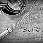Time To Bake Poster