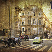 Time Traveling In Palermo - Sicily Poster
