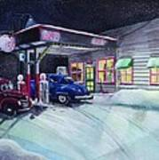Times Past Gas Station Poster