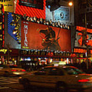 Times Square At Night Poster