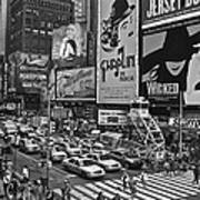 Times Square Bw Poster