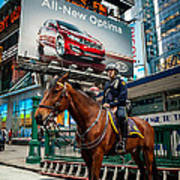 Times Square Horse Power Poster