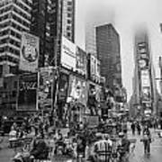Times Square With Fog Poster