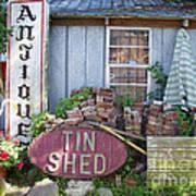 Tin Shed Apalachicola Florida Poster