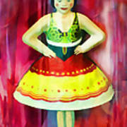 Tin Toy Ballerina Poster