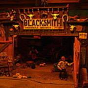 Tinkertown Blacksmith Shop Poster by Jeff Swan