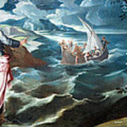 Tintoretto's Christ At The Sea Of Galilee Poster