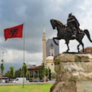 Tirana, Albania. Skanderbeg Square Poster