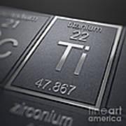 Titanium Chemical Element Poster
