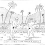 Title: Adam And Eve In The Garden Of Fitness Poster