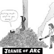 Title: Joanie Of Arc. A Teenage Joan Of Arc Rests Poster