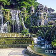 Tivoli Garden Fountains Poster