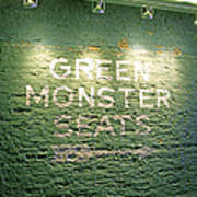 To The Green Monster Seats Poster by Barbara McDevitt