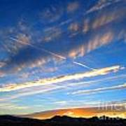 Tobacco Root Mountains At Sunset 1 Poster