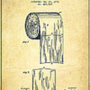 Toilet Paper Roll Patent Drawing From 1891 - Vintage Poster