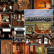 Toledo Peoria Western Pullman Rr Car Collage Poster