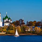 Tolga Monastery At River Volga Poster