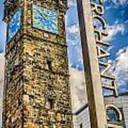 Tollbooth Clock Tower Glasgow Poster