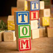 Tom - Alphabet Blocks Poster