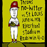 Tom Seaver Cincinnati Reds Poster by Jay Perkins