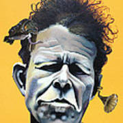 Tom Waits - He's Big In Japan Poster by Kelly Jade King