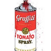 Tomato Spray Can Poster