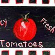 Tomatoes Market Sign Poster