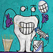 Tooth Pick Dental Art By Anthony Falbo Poster
