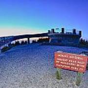 Top Of Mount Mitchell After Sunset Poster