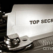 Top Secret Document In Armored Briefcase Poster